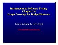 Introduction to Software Testing Chapter 2.4 Graph Coverage for ...