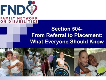 Section 504 - The Family Network on Disabilities of Florida