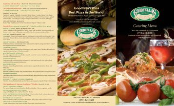 Catering Menu - Goodfella's Old World Brick Oven Pizza