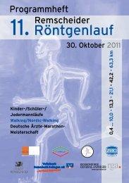 Die Strecken - Remscheider Röntgenlauf