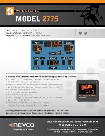 MODEL 2775 - Nevco