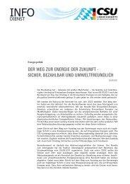 Der Weg zur energie Der zukunft - sicher, bezahlbar unD ...