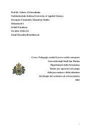 Pedagogia e lavoro sociale in Europa - Università degli Studi della ...