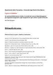Bibliografia - Università degli Studi della Repubblica di San Marino
