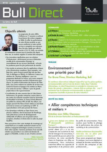 « Allier compétences techniques et métiers » Environnement ... - Bull