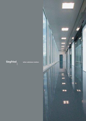 when substance matters - Siegfried