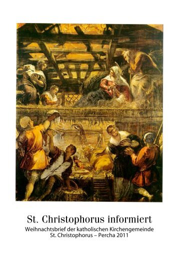 Weihnachtsbrief 2011 - St. Christophorus Percha