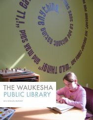 Annual Report To The Community - Waukesha Public Library