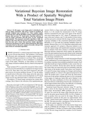 Variational Bayesian Image Restoration With a Product of Spatially ...