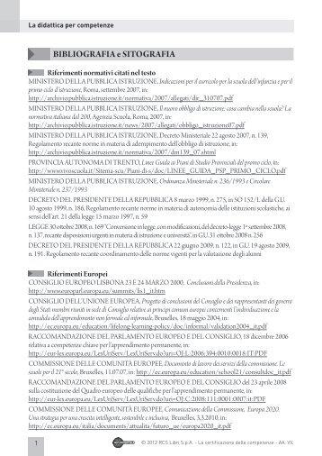 Bibliografia didattica - Aula Digitale