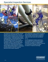 SpecialiSt inSpection ServiceS - Oceaneering