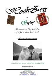 wir organisieren…. Ihre Hochzeit - Gasthaus Goglhof