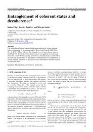 Entanglement of coherent states and decoherence*