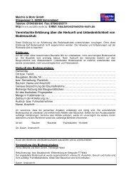 U- Bescheinigung Tettnanger Wald - Meichle & Mohr GmbH