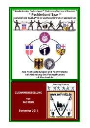 Alle Fechtabteilungen und Fechtvereine seit Gründung des -  Rolf Reitz