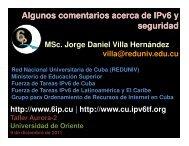 Algunos comentarios acerca de IPv6 y seguridad - Bienvenidos al ...