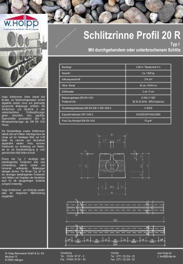 Schlitzrinne Profil 20 R - Meichle & Mohr GmbH
