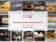 1 Prezentacja Wyników Za III Kwartał 2010 R - Empik Media & Fashion