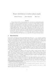 Degree distribution in random planar graphs