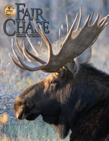 Fair Chase Editorial Dates - Boone and Crockett Club