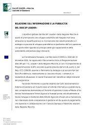 Relazione finale - Regione Marche