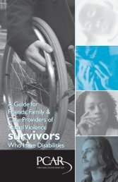 A Guide for Friends, Family and Care Providers of Sexual Violence ...