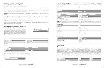 2012 employee purchase program customer application ... - Moots