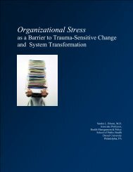 Bloom, S. L. Organizational Stress As A Barrier to Trauma-Informed ...