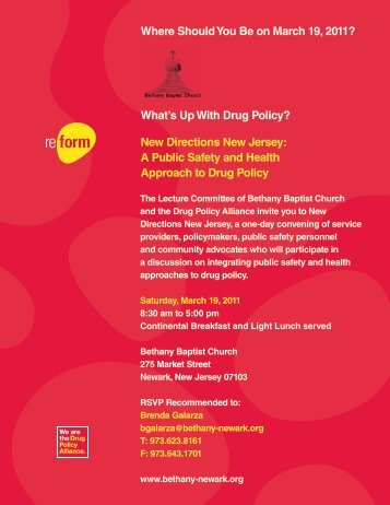 Where Should You Be on March 19, 2011? - Drug Policy Alliance