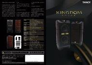 Tannoy Kingdom Royal 最新中文目錄下載 - 勝旗音響