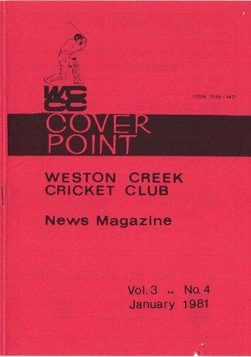 POINT WESTON CREEK CRICKET CLUB News Magazine