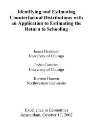 Identifying and Estimating Counterfactual Distributions with an ...
