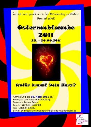 Osternachtwache 2011 - Einladung 1