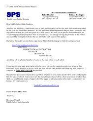 5th Grade Summer Packets - Southington Public Schools