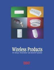 dsc wireless products sales brochure - Elvey Security Technology