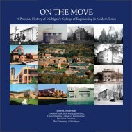 ON THE MOVE - Millennium Project - University of Michigan