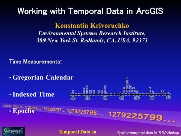 Working with Temporal Data in ArcGIS