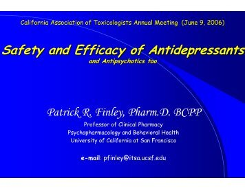 cat june2006 fri finley_scr.pdf - California Association of Toxicologists