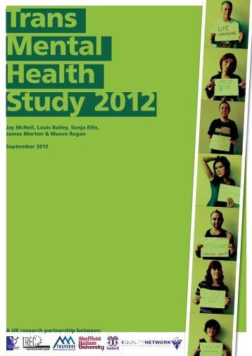 Trans Mental Health Study 2012 - Gay and Lesbian Health Victoria