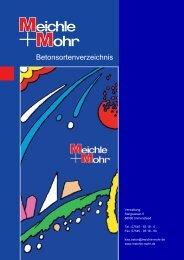 Betonsortenverzeichnis - Meichle & Mohr GmbH