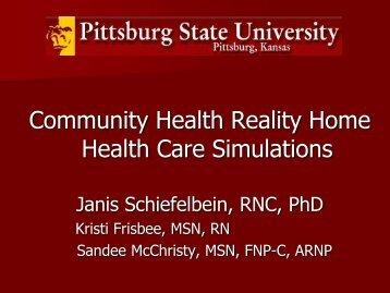 Home Health Simulation Poster Presentation Education ... - IUPUI