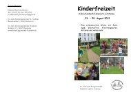Kinderfreizeit - Ev-luth. Kirchengemeinde Hannover-Hainholz