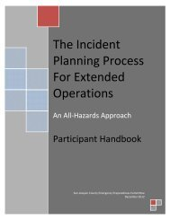 The Incident Planning Process For Extended Operations