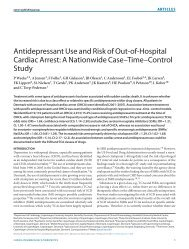 Antidepressant Use and Risk of Out-of-Hospital Cardiac Arrest - CPNC