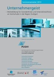 Ausgabe SS 2013 - Push! - Region Stuttgart