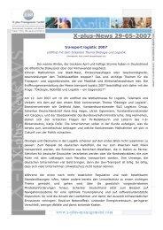 News -29 – 05.2007 – transport logistic 2007 - X-plus-Management