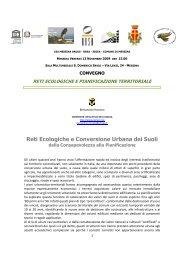Reti ecologiche e conversione urbana dei suoli: dalla ... - Planeco