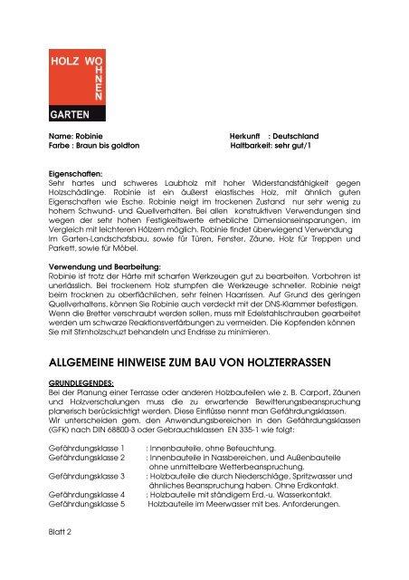 Beau Robinie Holzartenbeschreibung.pdf   Holz Wohnen Garten