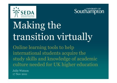 Online learning tools to help international students acquire ... - Seda