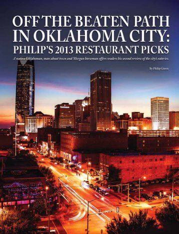 2013 OKC Dining Guide - American Morgan Horse Association
